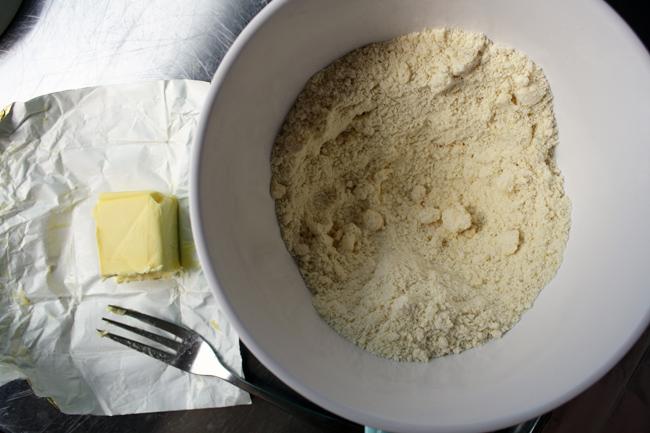 butter cut into flour