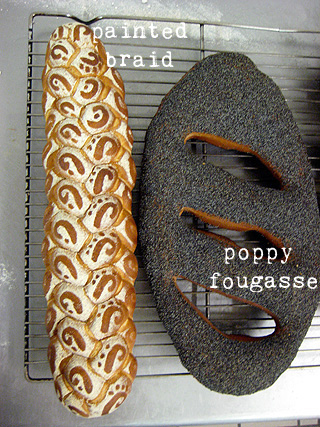 painted braid and poppy fougasse