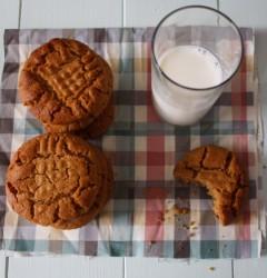gluten-free peanut butter cookies with milk