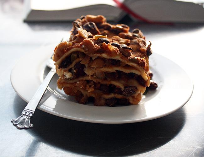 a slice of mexican lasagna