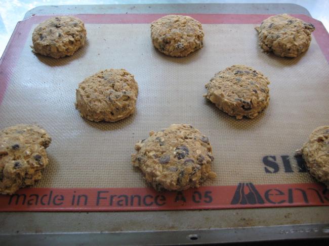 oatmeal chocolate cherry pecan cookie dough
