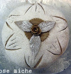 unbaked rose miche
