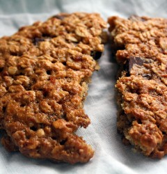 vegan banana oatmeal chocolate chip cookies
