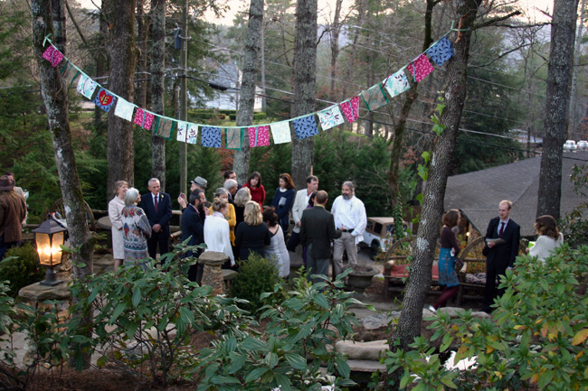 guests gathered after the ceremony