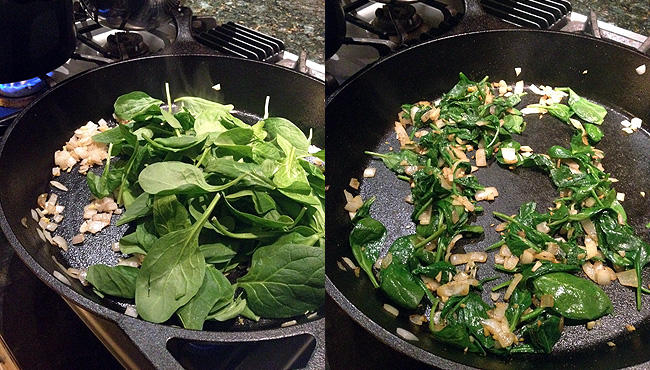 that spinach is a wiltin', uh huh oh yeah